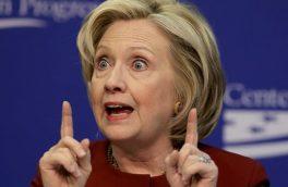 فیلم/ حرکت عجیب و خندهدار کلینتون در مناظره انتخاباتی
